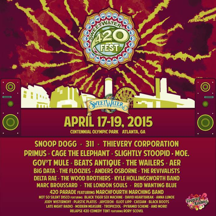 SweetWater 420 Festival 2015 Festival Poster