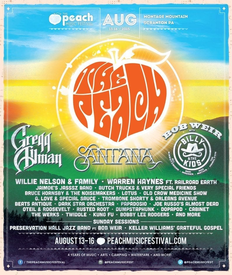 The Peach Music Festival 2015 Festival Poster
