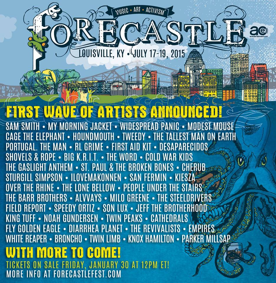 Forecastle Festival First Round Lineup: Modest Mouse, Widespread Panic, My Morning Jacket
