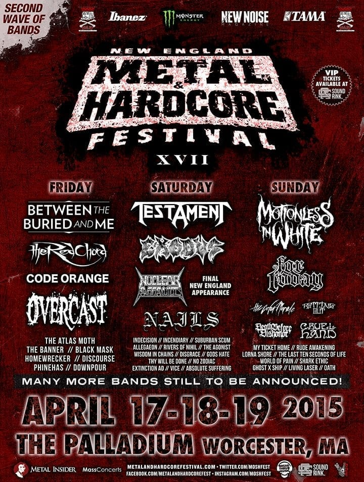 New England Metal and Hardcore 2015 Festival Poster