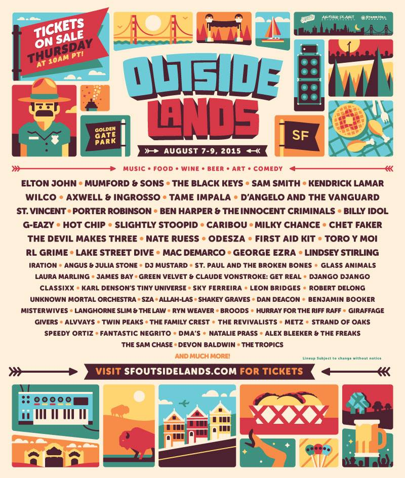 Outside Lands 2015 Festival Poster