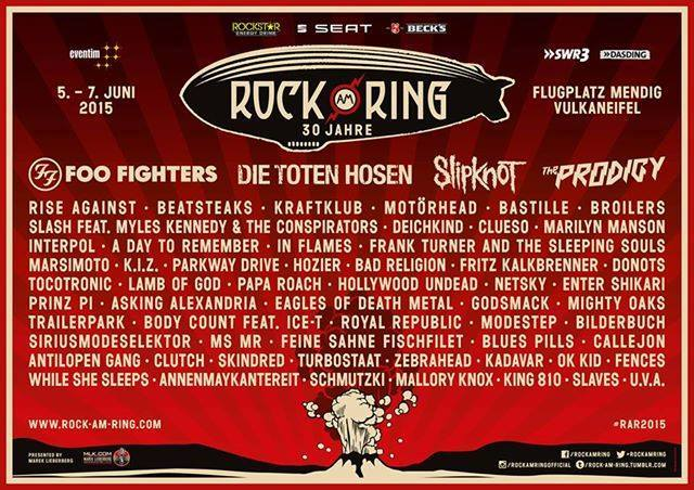 Rock Am Ring 2015 Festival Poster