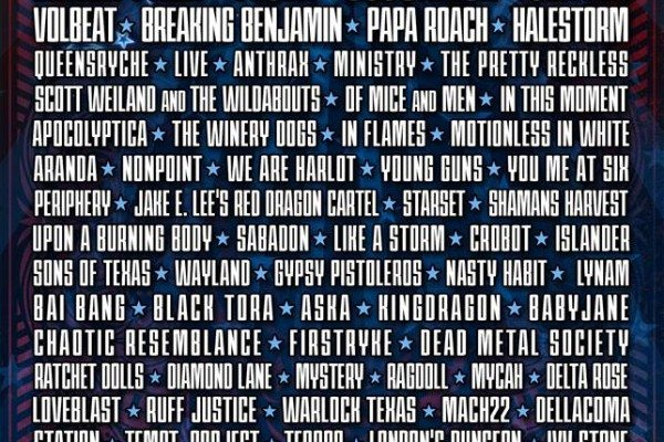 Rocklahoma 2015 Lineup Poster