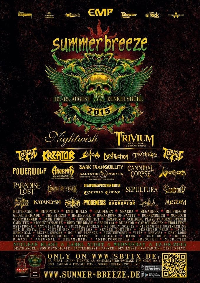 Summer Breeze 2015 Festival Poster