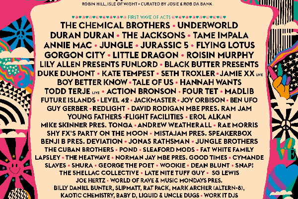 Bestival 2015 Lineup Poster