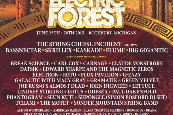 Electric Forest 2015 Lineup Poster