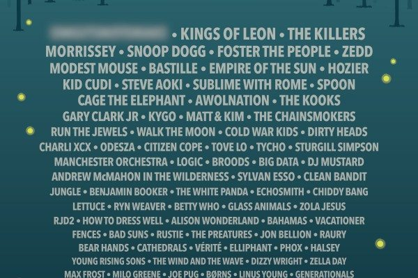 Firefly Music Festival 2015 Lineup Poster