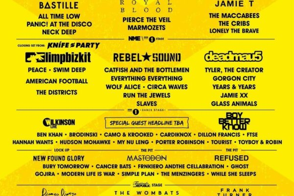 Reading and Leeds 2015 Lineup Poster