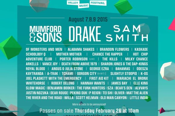 Squamish Valley Music Festival 2015 Lineup Poster