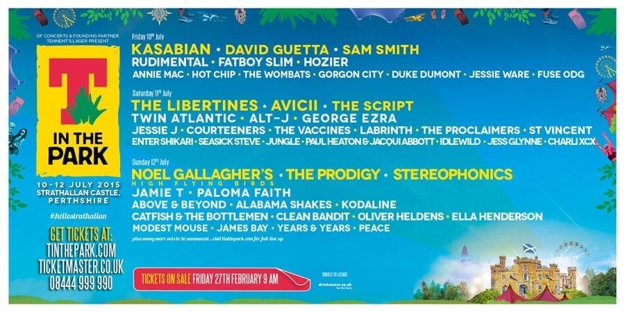 T in the Park Drops 2015 Lineup With The Prodigy, Libertines, Avicii, Kasabian