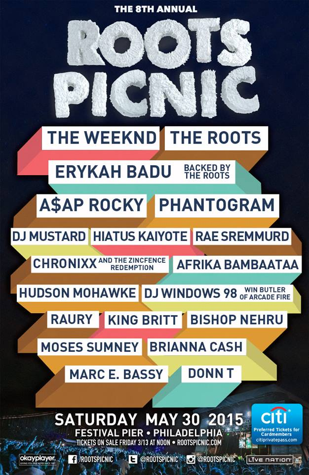 The Roots Picnic 2015 Festival Poster