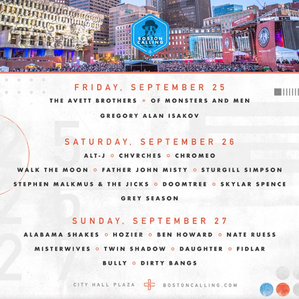 Boston Calling Fall 2015 Festival Poster