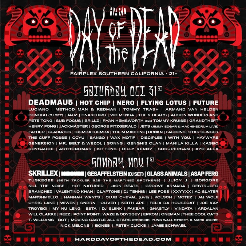 Hard Day of the Dead 2015 Festival Poster