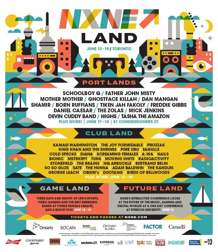 North by Northeast (NXNE) 2016 Festival Poster