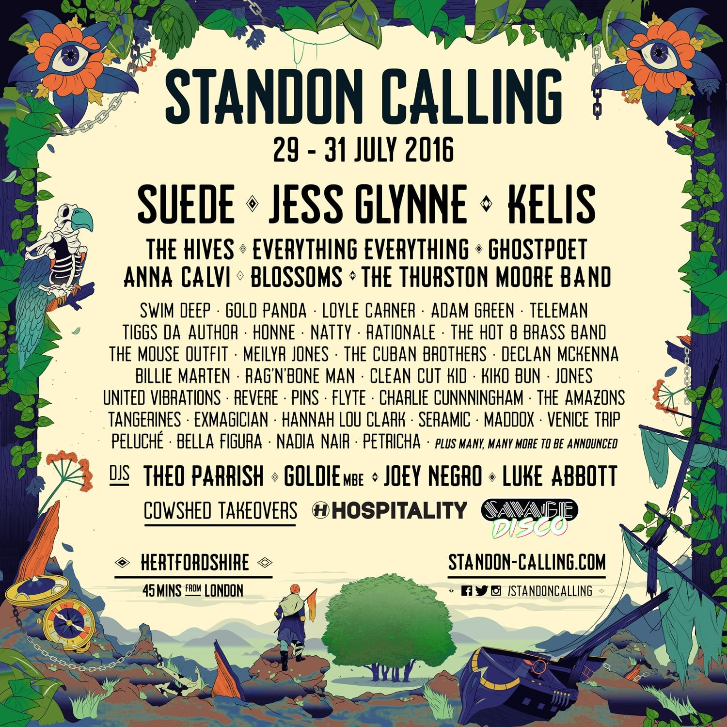 Standon Calling 2016 Festival Poster