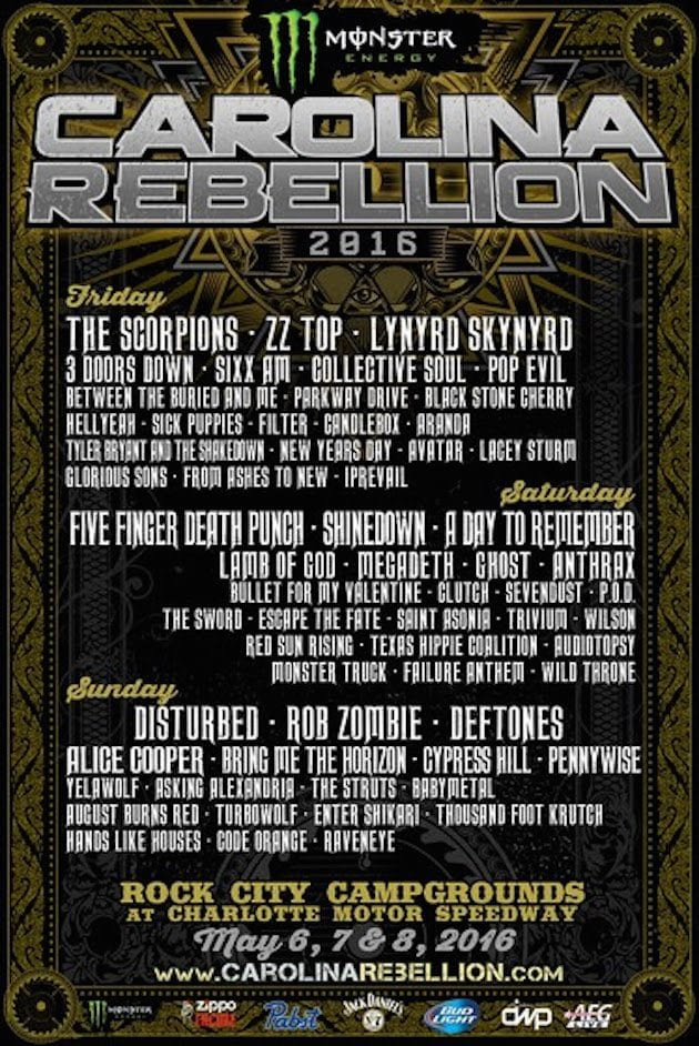 Carolina Rebellion 2016 Festival Poster