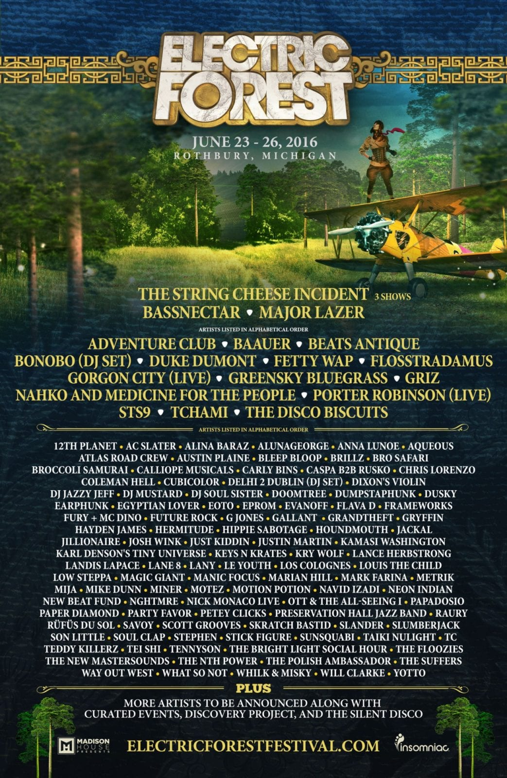 Electric Forest 2016 Festival Poster