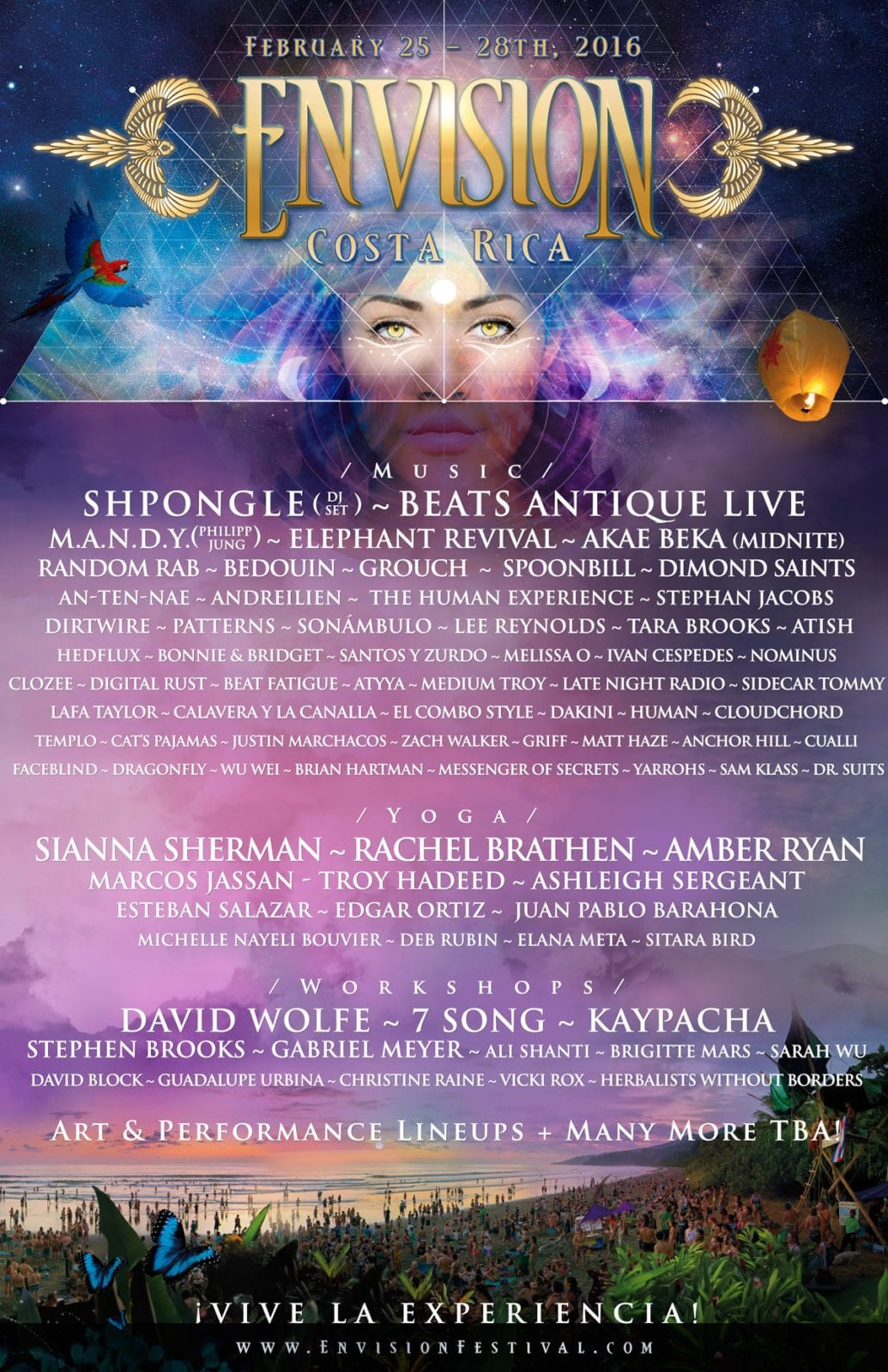 Envision Costa Rica 2016 Lineup Poster