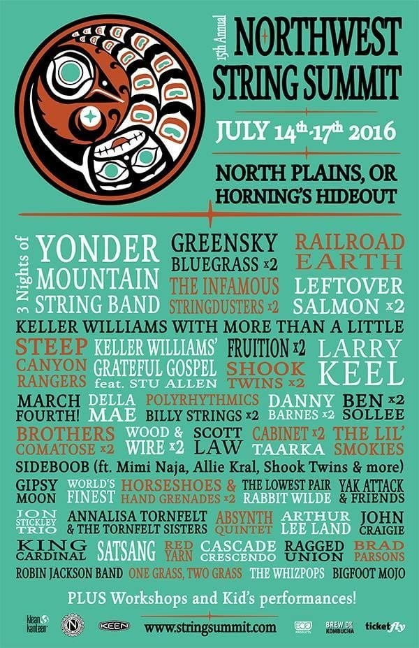 Northwest String Summit 2016 Festival Poster
