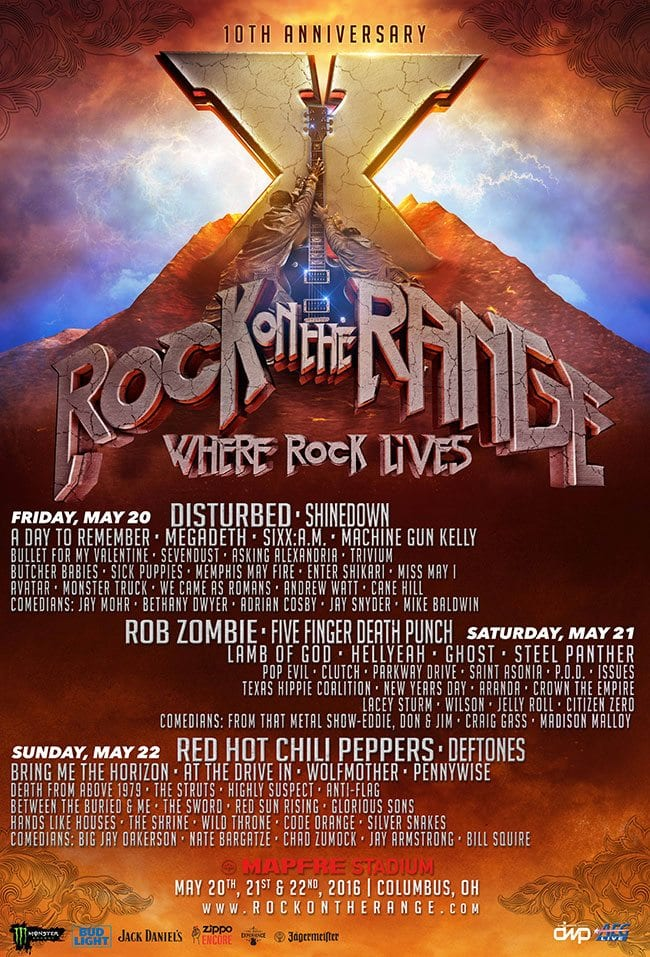 Rock on the Range 2016 Festival Poster