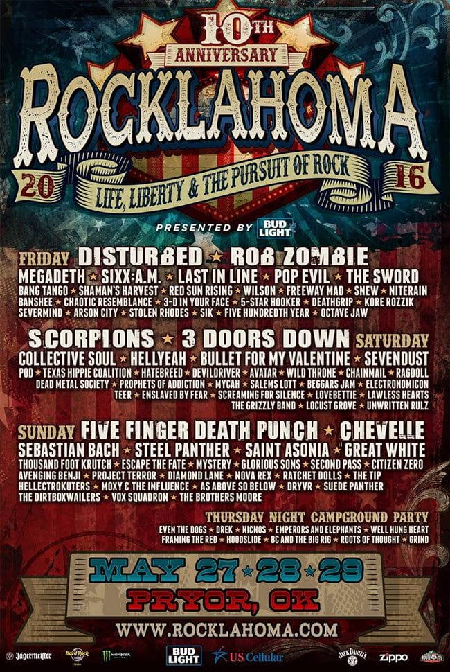 Rocklahoma 2016 Festival Poster