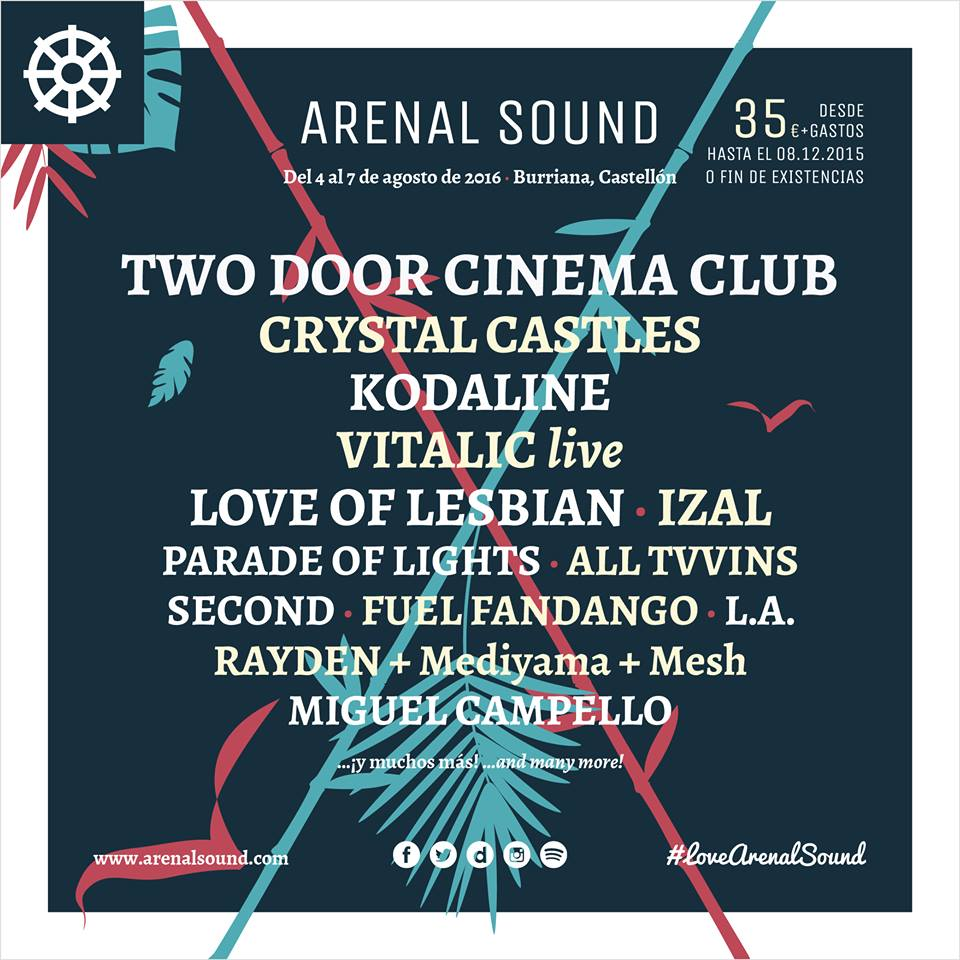 Arenal Sound 2016 Festival Poster