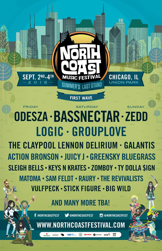 North Coast Music Festival 2016 Festival Poster