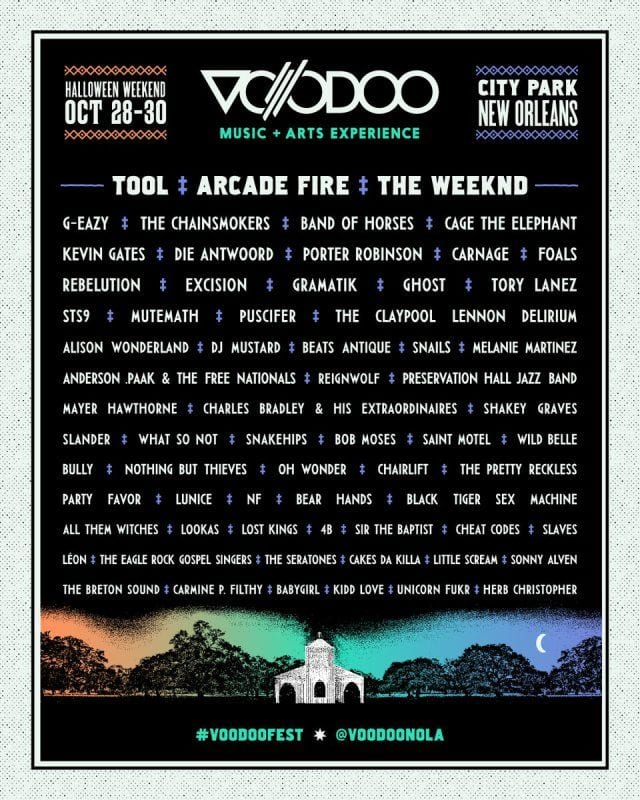 Voodoo Experience 2016 Festival Poster