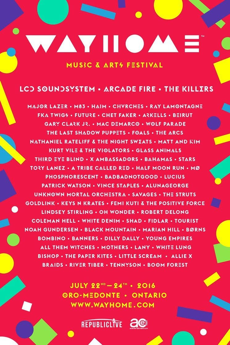 Wayhome Festival Announces 2016 Lineup Music Festival Wizard
