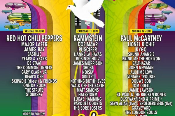 Pinkpop 2016 Lineup Poster