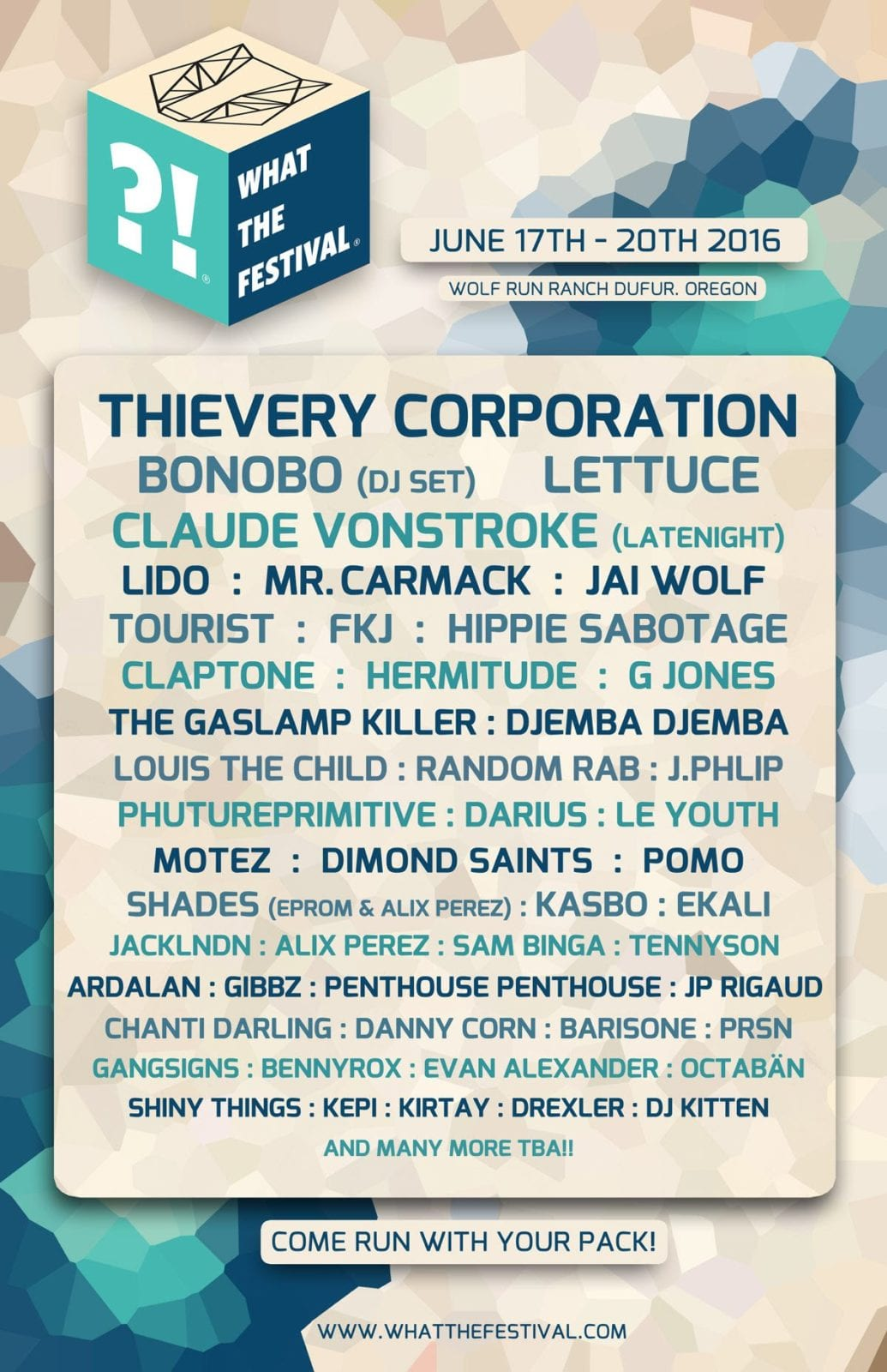 What The Festival Drops 2016 Lineup Announcement!