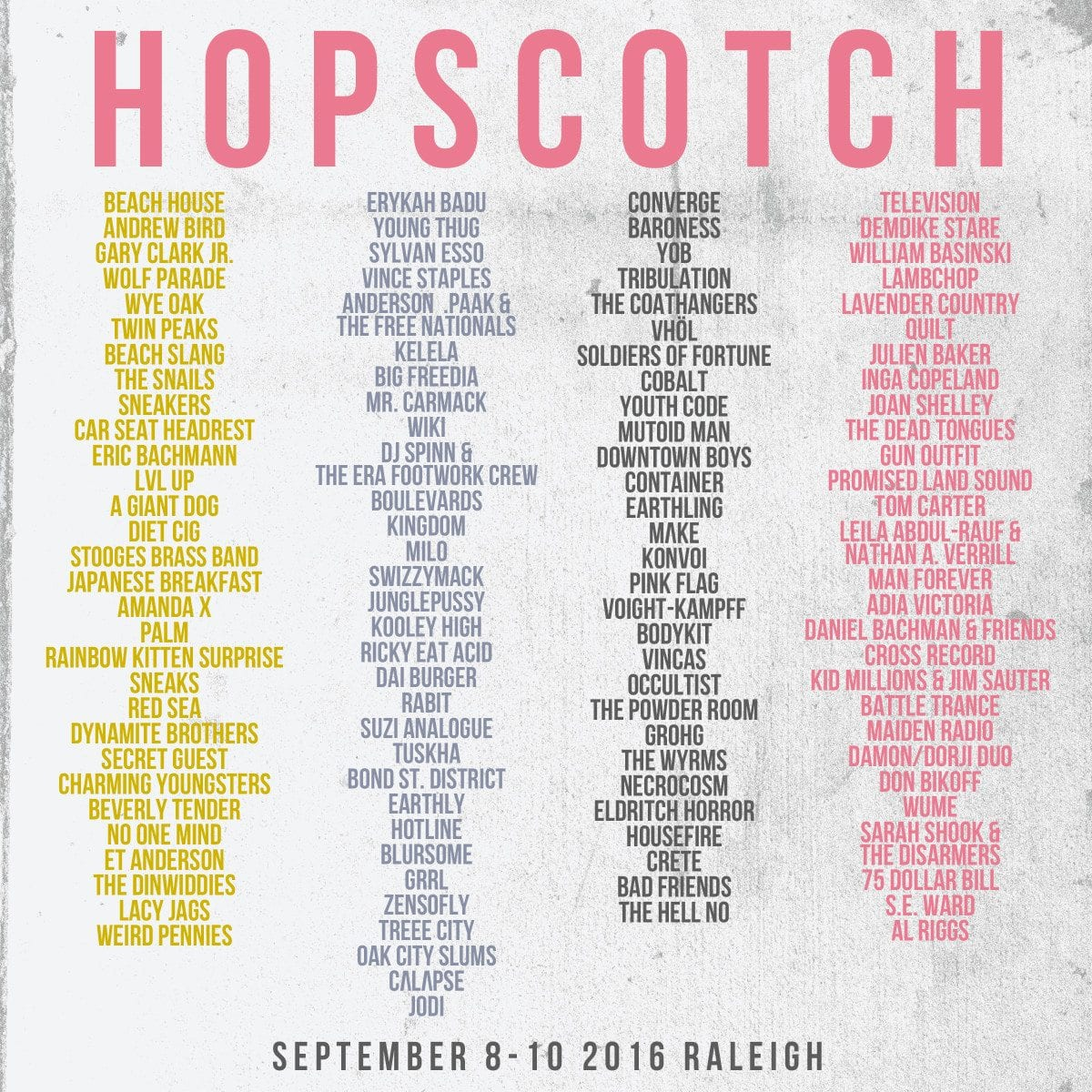 Hopscotch Festival Releases Massive 2016 Lineup Music Festival Wizard