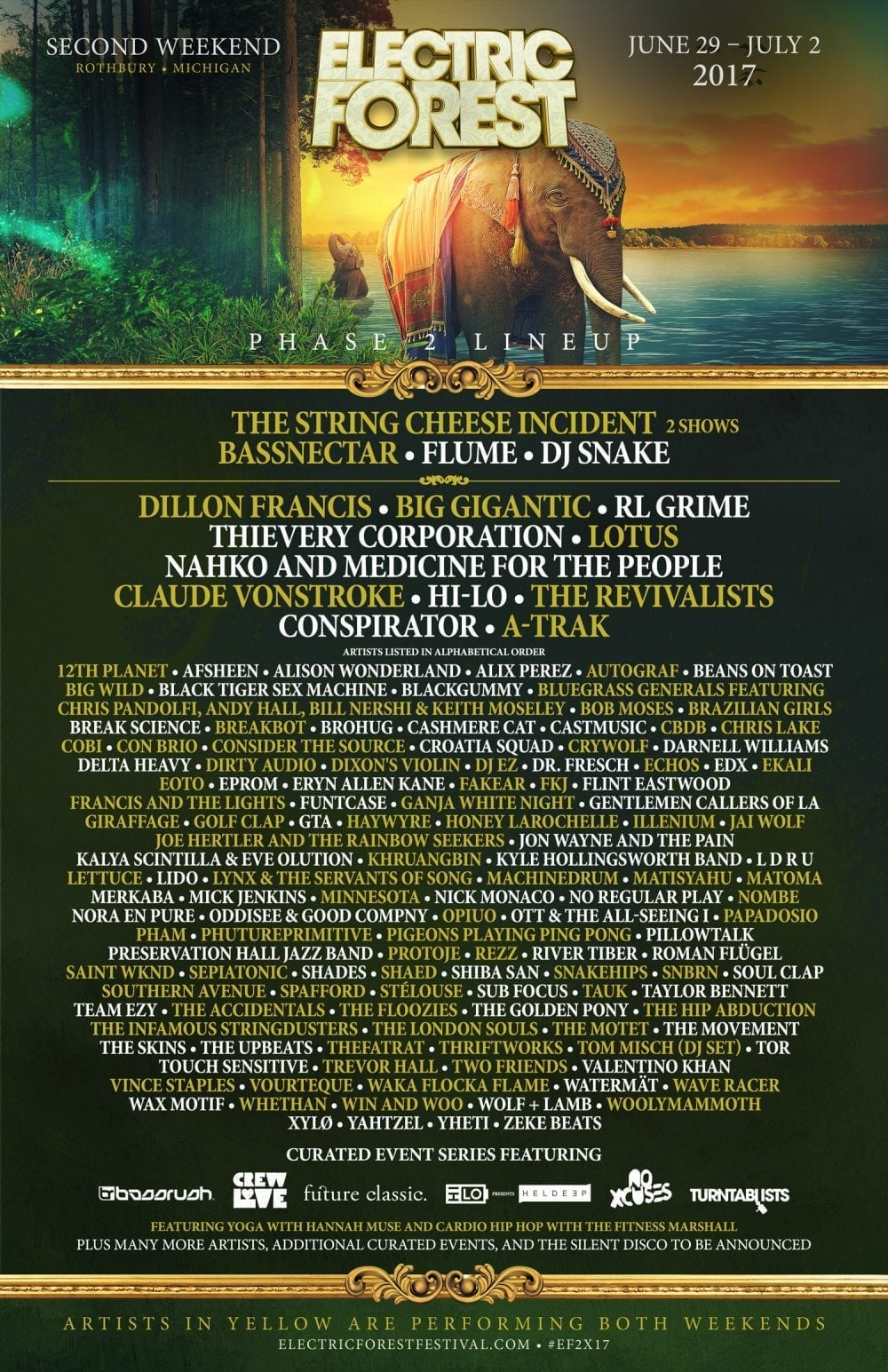 Electric Forest 2017 Festival Poster