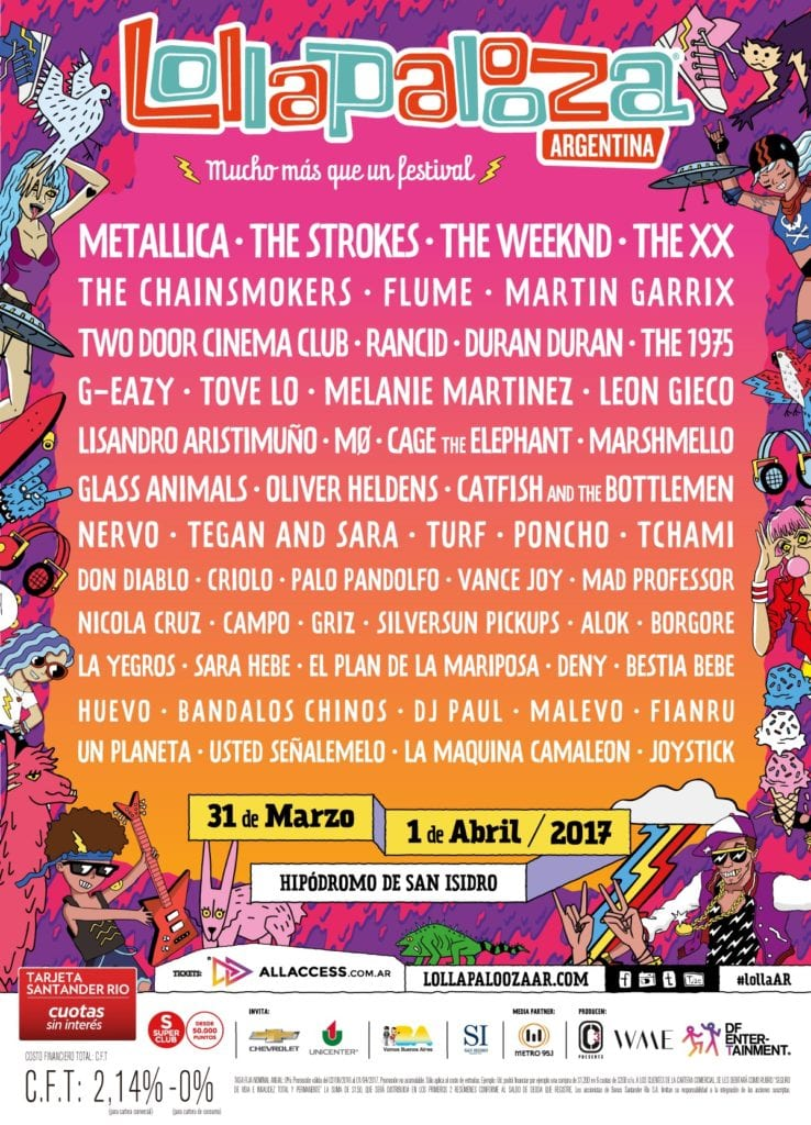 Lollapalooza Argentina 2017 Festival Poster