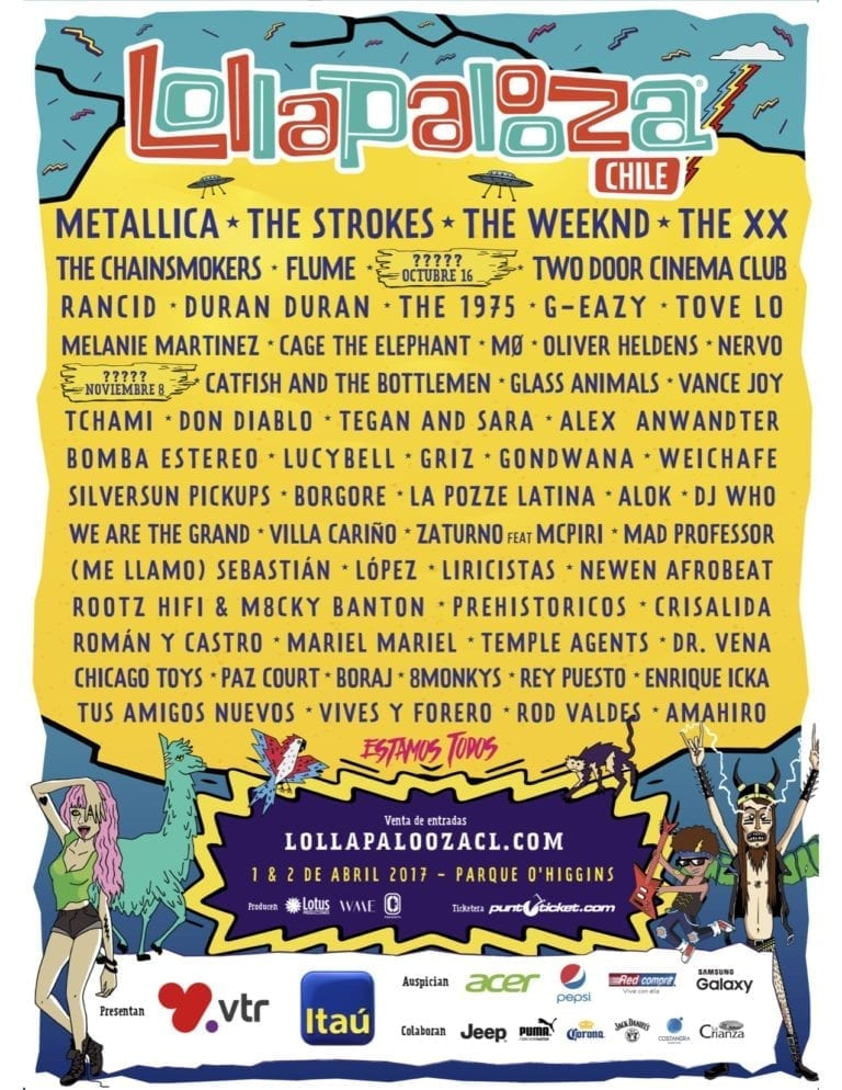 Lollapalooza Chile 2017 Festival Poster