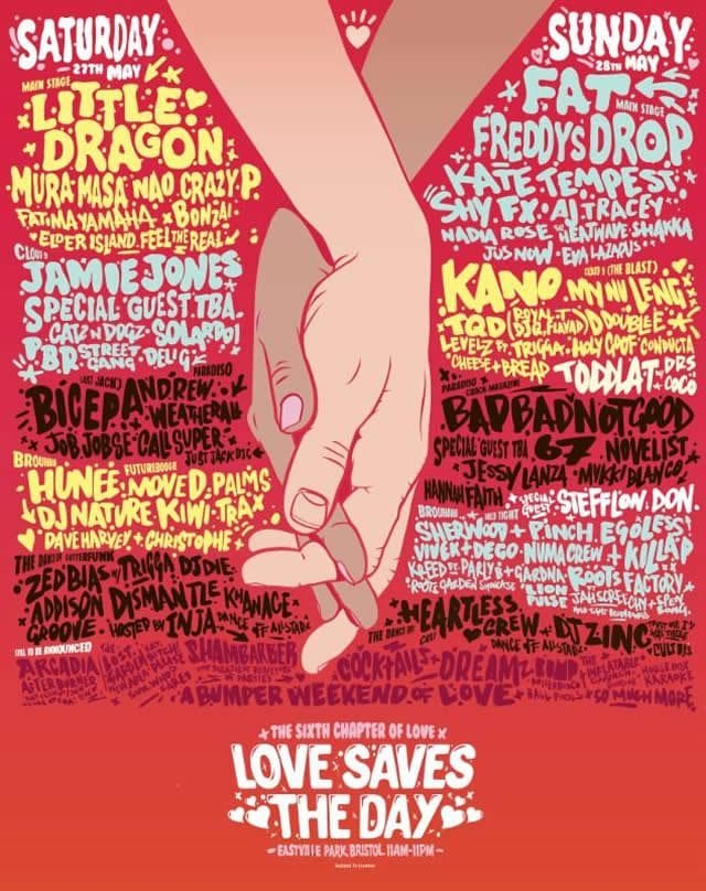 Love Saves the Day Festival 2017 Festival Poster