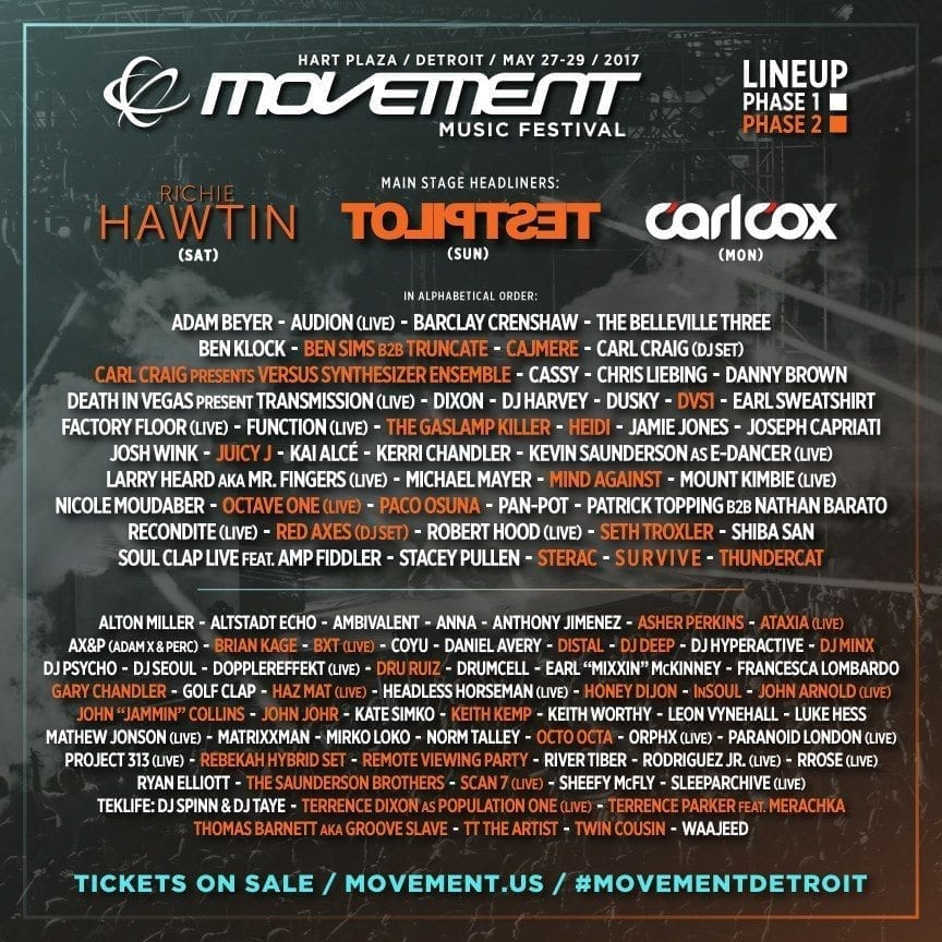 Movement Detroit 2017 Festival Poster