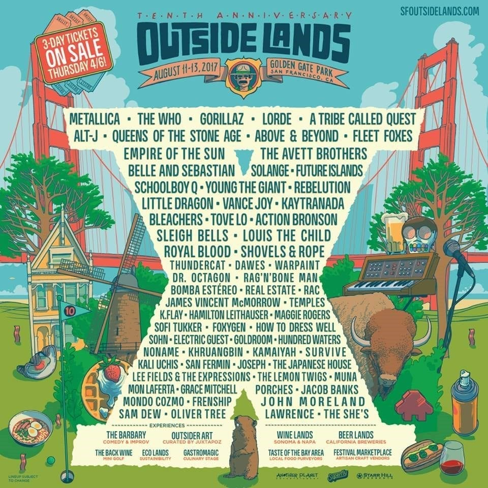 Outside Lands 2017 Festival Poster