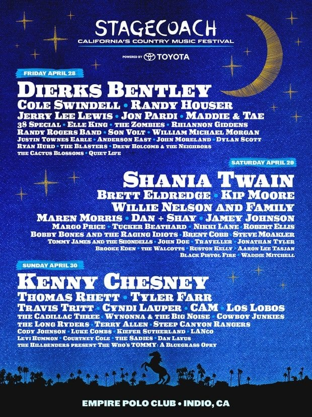 Stagecoach Music Festival 2017 Festival Poster