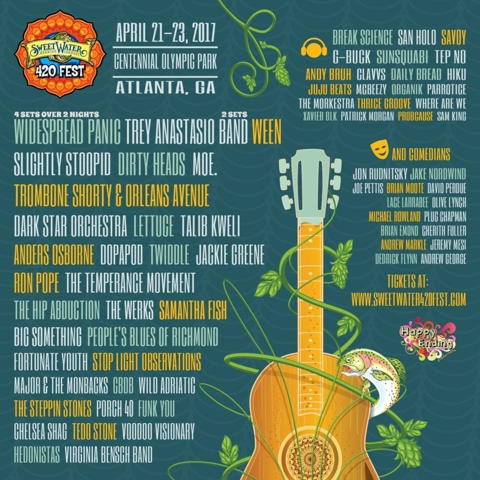 SweetWater 420 Festival 2017 Festival Poster