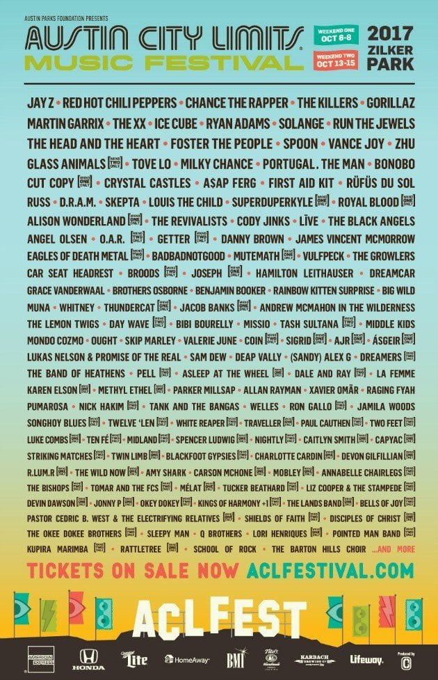 Austin City Limits Music Festival Announces 2017 Lineup Music Festival Wizard