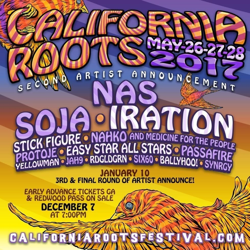 California Roots 2017 Festival Poster