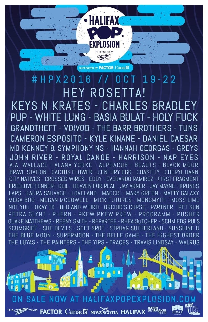 Halifax Pop Explosion 2016 Festival Poster