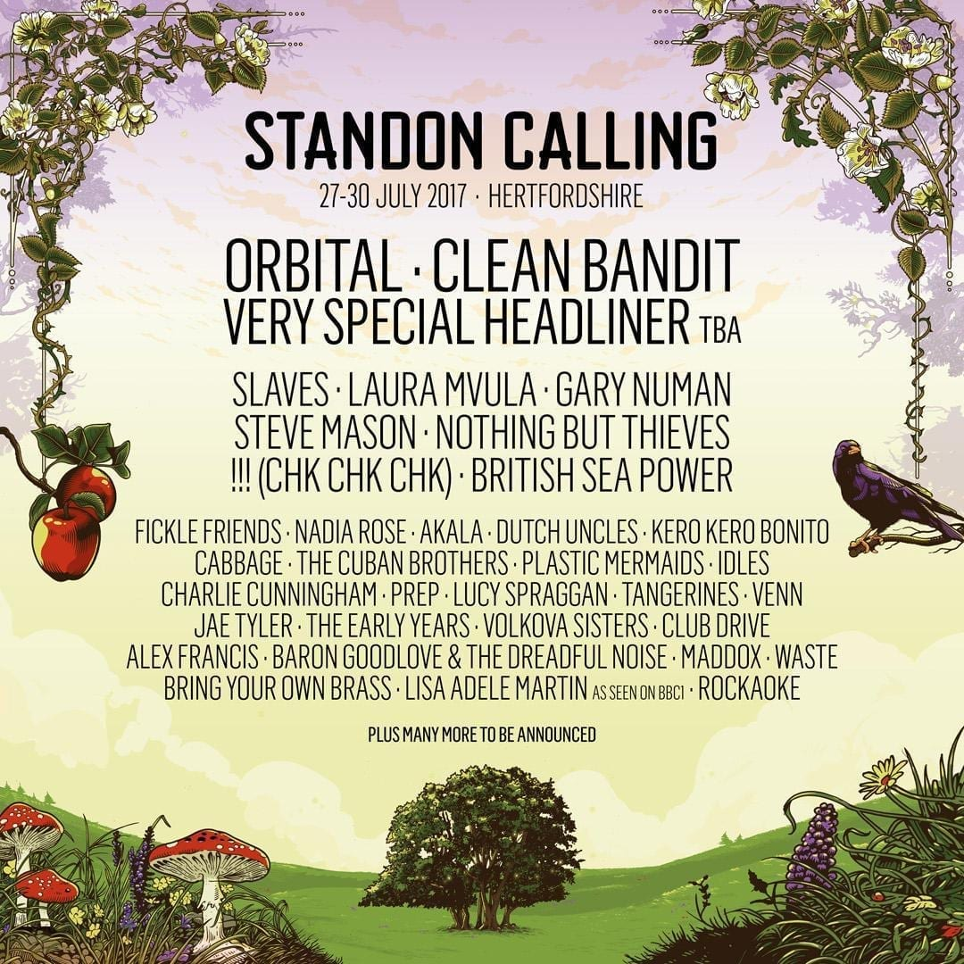 Standon Calling 2017 Festival Poster