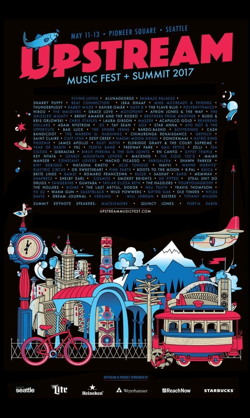 Upstream Music Fest 2017 Festival Poster