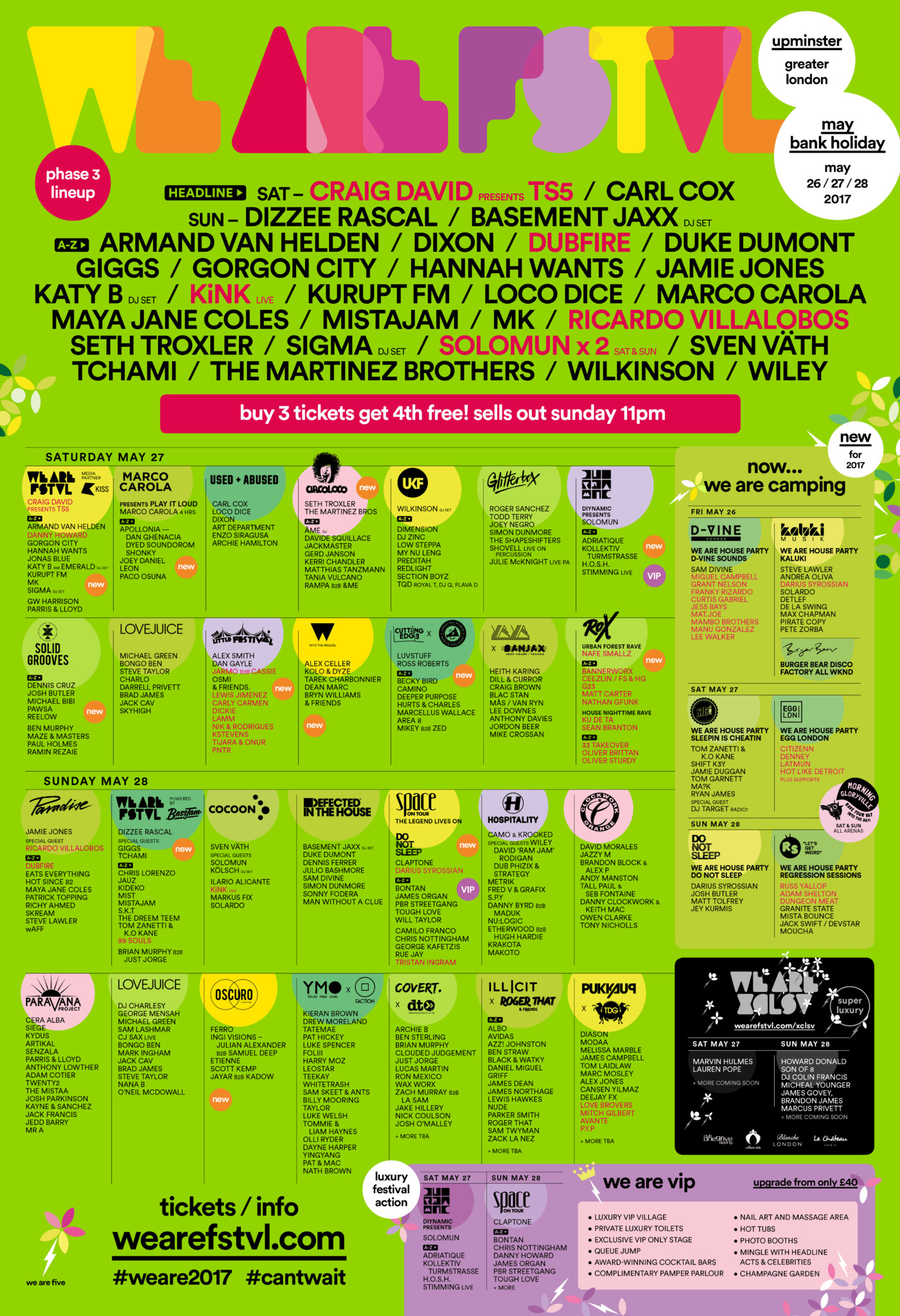 We Are FSTVL 2017 Festival Poster