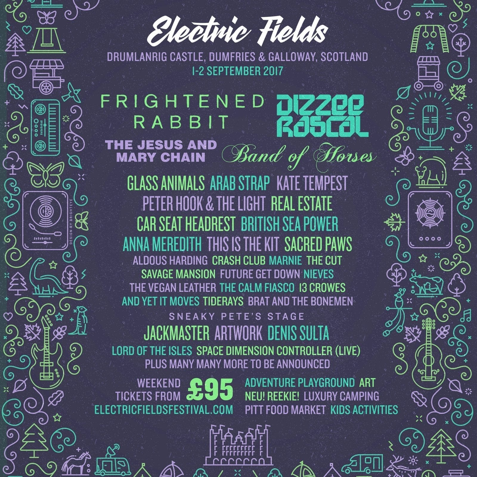 Electric Fields 2017 Festival Poster