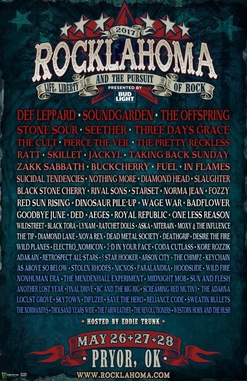 Rocklahoma 2017 Festival Poster