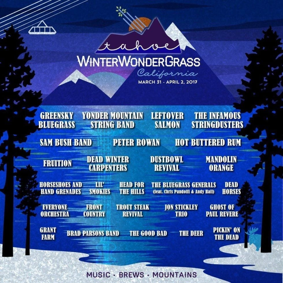 Winter Wonder Grass Tahoe 2017 Festival Poster