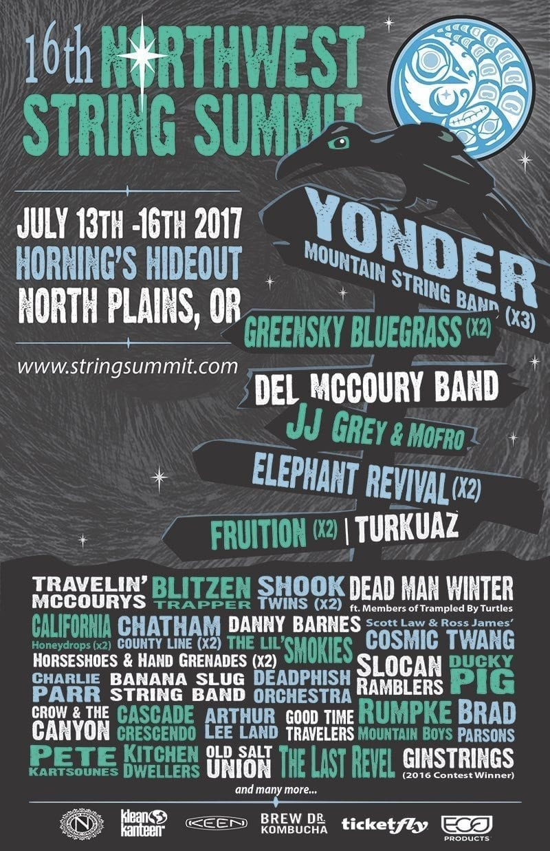 Northwest String Summit 2017 Festival Poster
